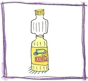 Bottle of Canola Oil